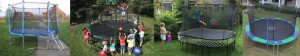 Safest backyard trampoline collage
