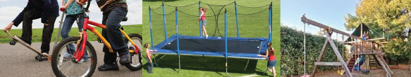 various types of outdoor play equipment